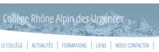 CRAU : Collège Rhône-Alpin des Urgences